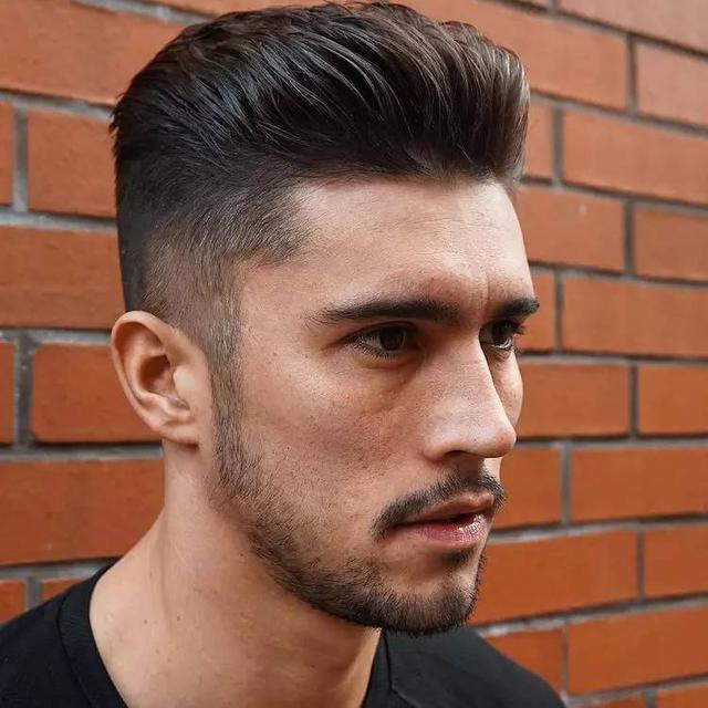 发型|分线卷发背梳 2016年最酷的71种男士发型 这样的图片