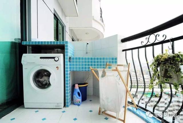 陽台這樣做洗衣房,實用方便又大氣!