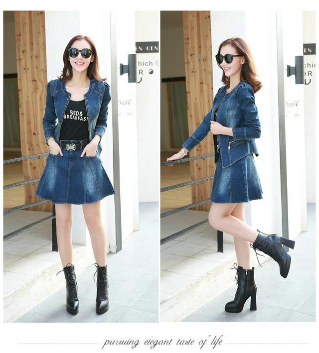 秋季牛仔套裙,適應季節變換的時尚搭配組合