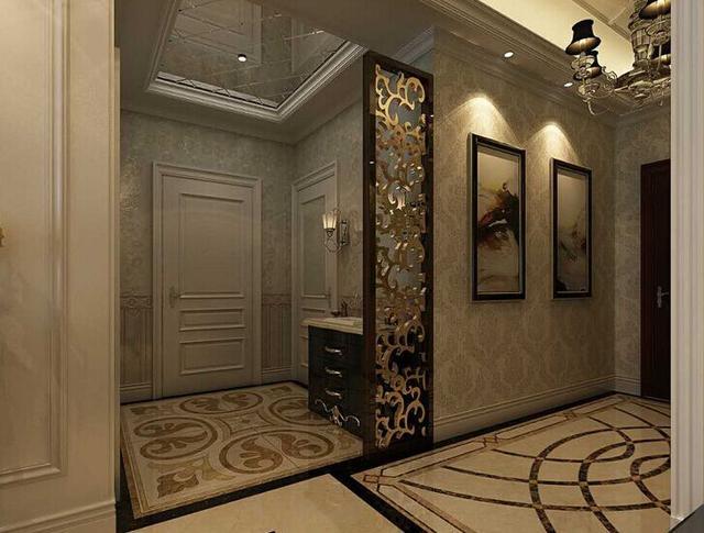 入戶玄關瓷磚就是要這麼貼,太好看了,盡顯高大上!