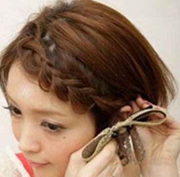 短髮妹子們,4款簡單的短髮編髮圖解!無需羨慕長髮妹子了!
