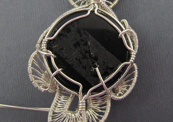 DIY華麗的螺旋繞線寶石鑲嵌項鍊吊墜手工製作教程——繞線首飾基本技法之螺旋繞線編織線網詳細圖解教程