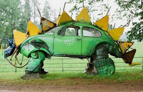 誰說汽車報廢后就一無是處只能送去回收場當廢鐵賣!快來看看外國人的巧思吧!