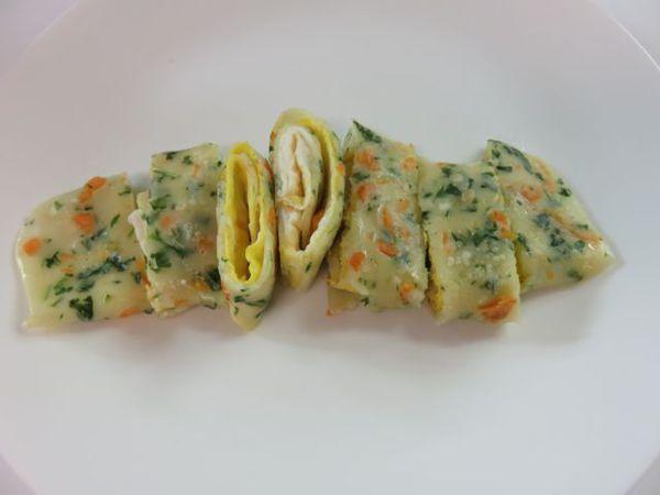 加進蔬菜的蛋餅皮,滿滿營養與創意