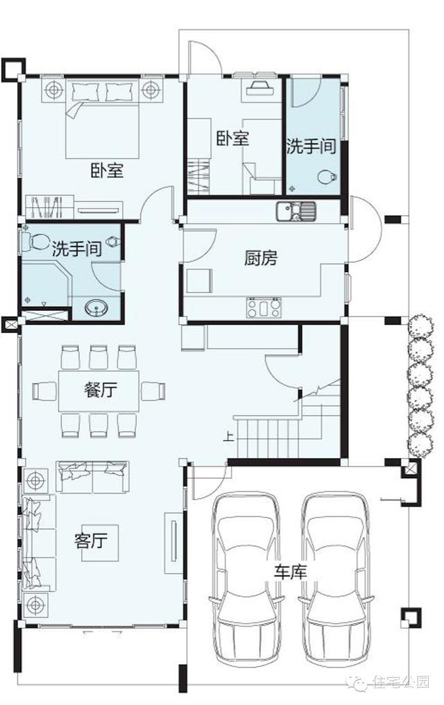 9米麵寬還要雙車庫 小別墅這樣布局好不好