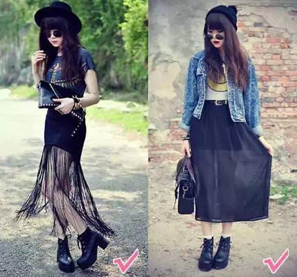 別亂穿了,腿粗的女人這樣穿才最顯瘦!路的時候腿部線條若隱若現,而且還顯腿細。