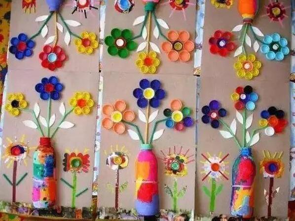 创意diy:矿泉水瓶盖,塑料瓶盖diy的创意装饰画