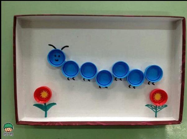 礦泉水瓶蓋、塑料瓶蓋diy的創意裝飾畫