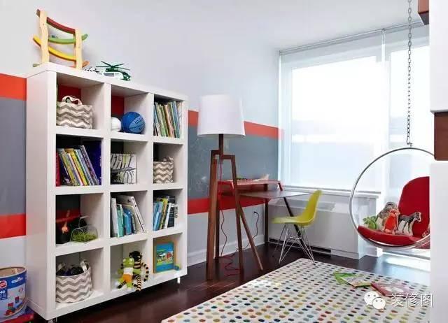 兒童書房裝修效果圖大全,太實用了!