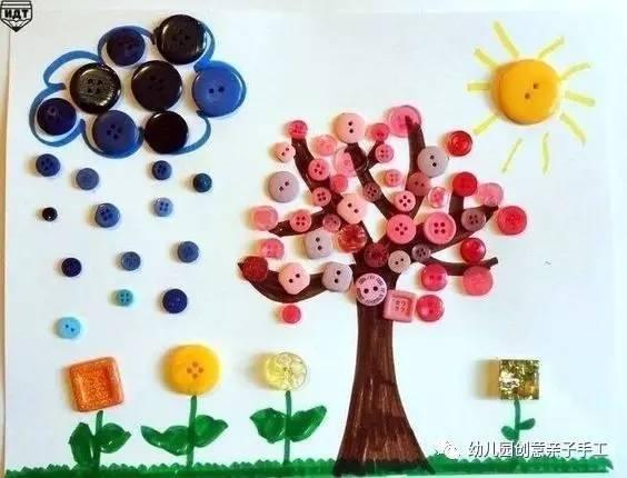 幼儿园亲子手工之植树节来啦,粘贴树涂鸦树等多种玩法,简单有趣