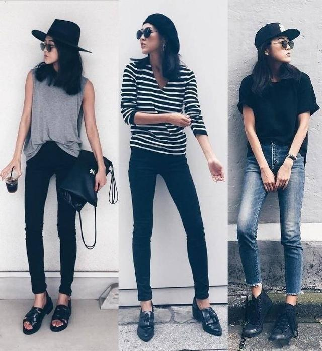 日本時尚博主Alisa的一系列黑色穿搭
