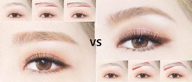 圖解畫眉教程,一字眉高挑眉,各種眉型技巧