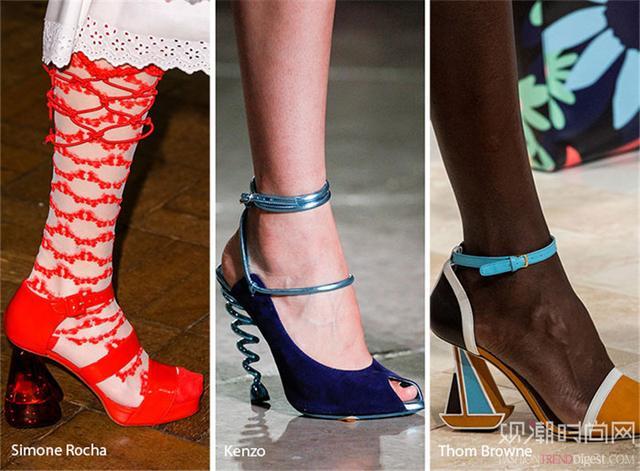 粗跟鞋N多穿法,怎麼搭配都好看