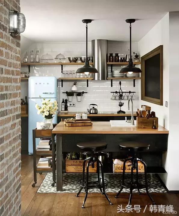 逼格十足的工業風廚房