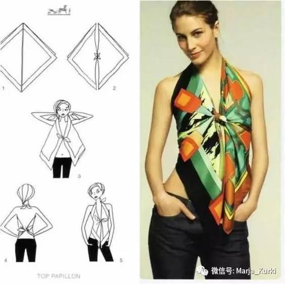 讓舊絲巾變新衣的6種簡單實用DIY,還能樣子美美不撞衫!