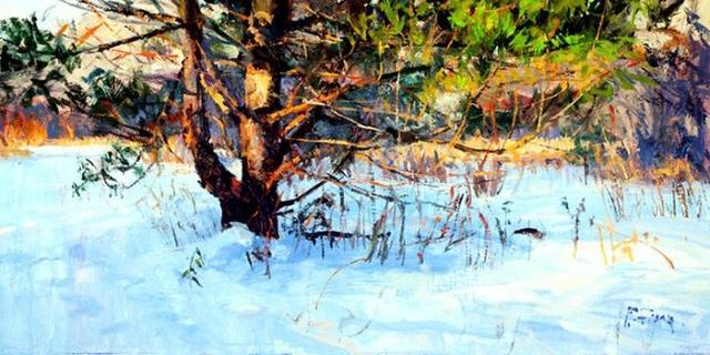 美國藝術家彼得菲奧雷筆下的風景油畫作品