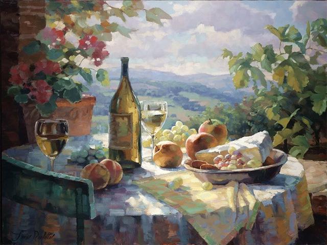 美國畫家里昂鮑維筆下的油畫作品葡萄熟了
