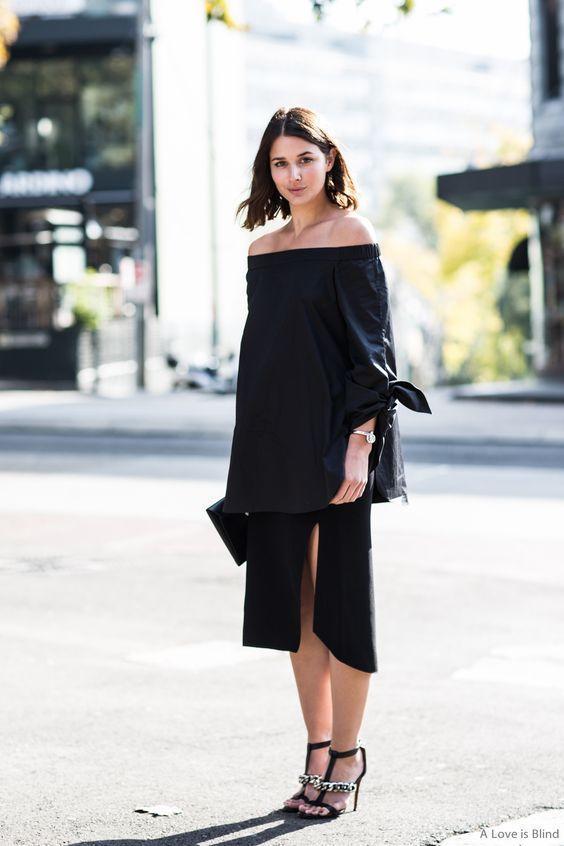 小黑裙配小白鞋,才是秋天的正確打開方式