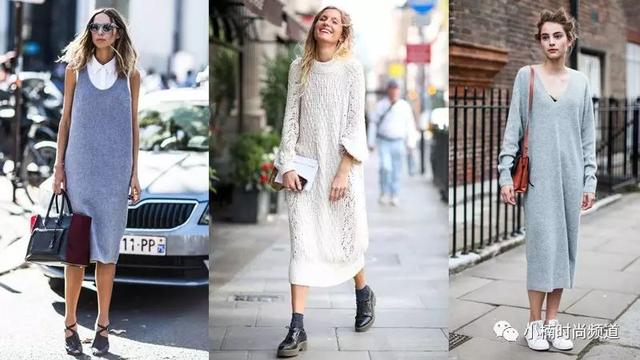 針織裙又熱又顯胖? 今年秋冬用一件針織連身裙穿出顯瘦風格