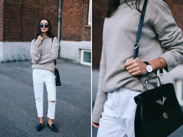 誰說牛仔褲就一種顏色,這4種顏色隨心搭配,簡直夠穿一整個冬天