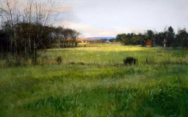 油畫風景和水彩風景