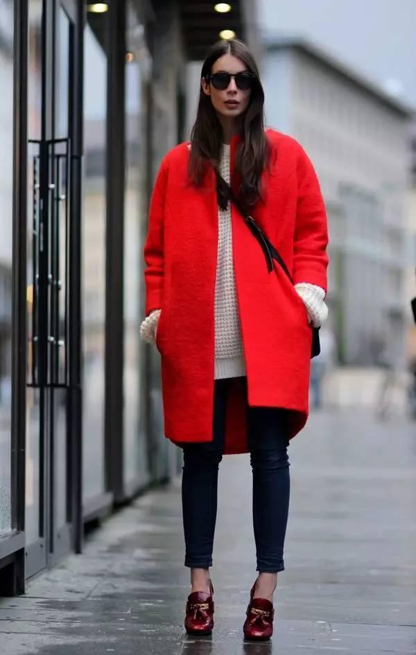 35种红色外套穿搭示范美極了