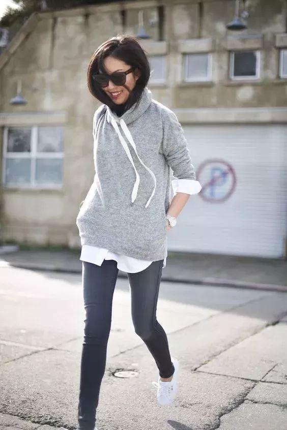1件衛衣的8種時髦穿法,第6種好喜歡!