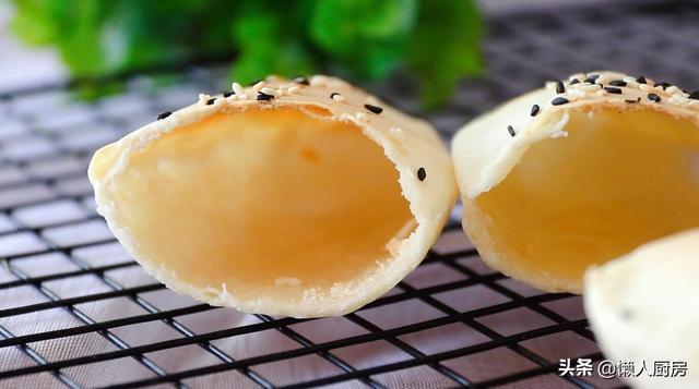 不需要酵母,不需要發酵,教你做空心餅,個個鼓大泡