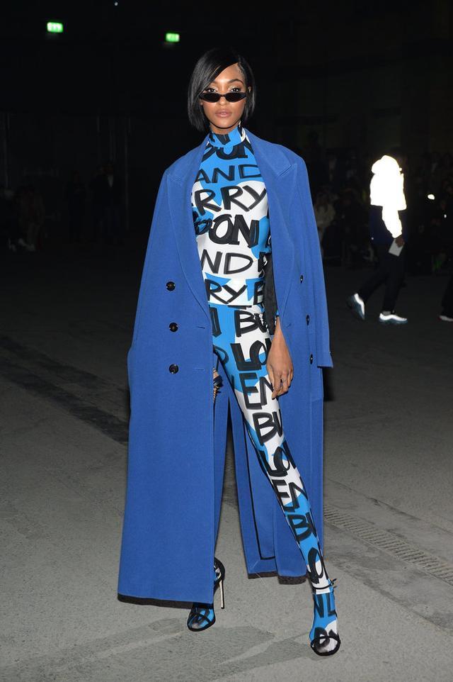 在倫敦時裝週上的名人穿衣風格