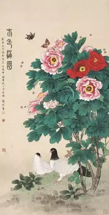 150幅國畫牡丹,花開正艷,富貴逼人!