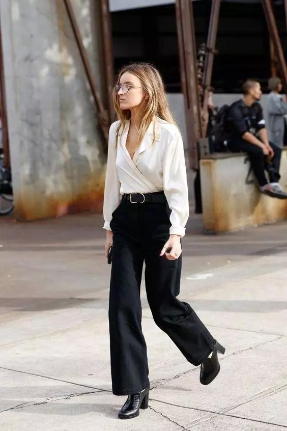 絲質襯衫+牛仔褲是最有女人味的搭配!