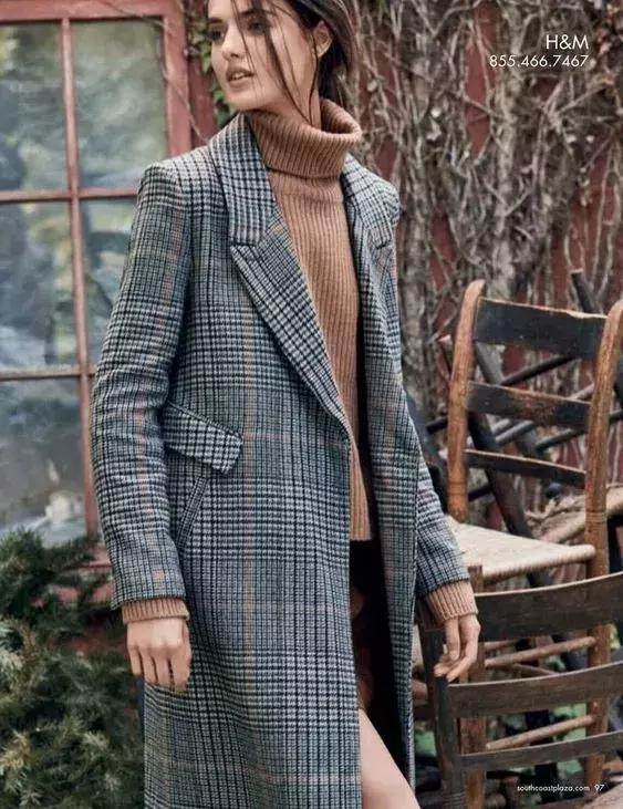 冬天千萬不要穿格紋,因為太有氣質了!